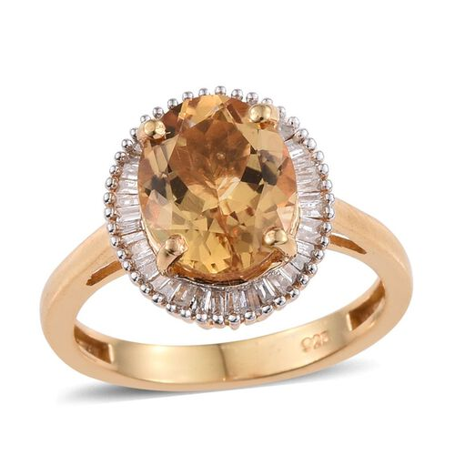 Marialite (Ovl 2.00 Ct), Diamond Ring in 14K Gold Overlay Sterling Silver 2.250 Ct.