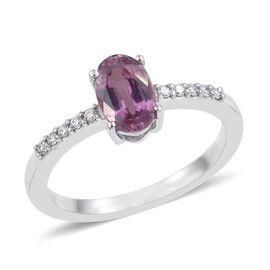 RHAPSODY 950 Platinum 1.50 Carat AAAA Pink Sapphire Shoulder Set Ring With Diamond VS E-F