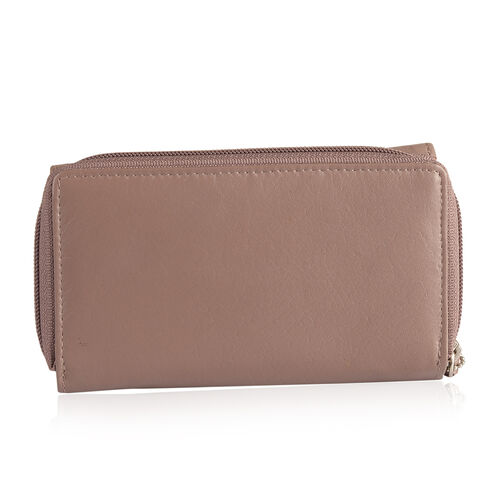 100% Genuine Leather RFID Blocker Dark Beige Colour Wallet with Multiple Card Slots (Size 15.5X9.5X3.5 Cm)