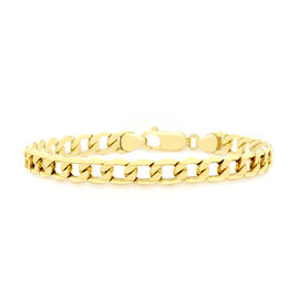 Close Out Deal 9K Y Gold 6 Sided Curb Chain Bracelet (Size 8.5) 7.90 Gms.