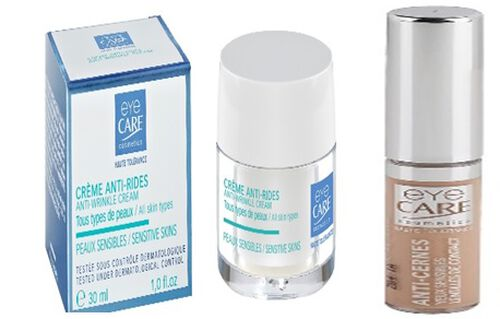 Butterflies Healthcare Enlightening- Anti wrinkle eye cream, with cream concealer Enlightening with bonus travel size eye makeup remover lotion