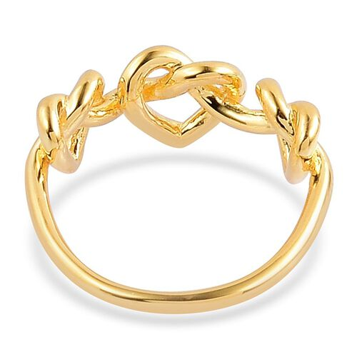 LucyQ Triple Entwine Ring in Yellow Gold Overlay Sterling Silver