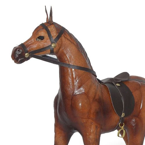 Made In India Handmade With Genuine Leather Horse Ornament 2283022 Tjc