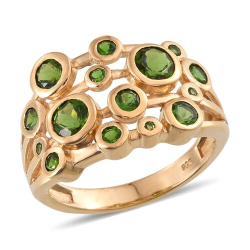 Russian Diopside (Rnd) Ring in 14K Gold Overlay Sterling Silver 2.750 Ct.