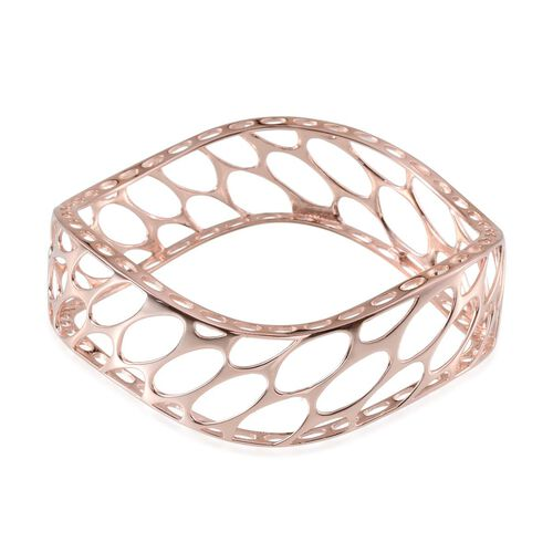 ION Plated 18K Rose Gold Bond Bangle (Size 7.5)