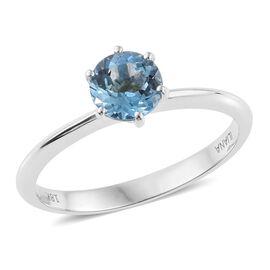 ILIANA 18K White 0.75 Carat Gold Santa Maria Aquamarine Solitaire Ring