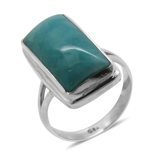 Royal Bali Collection Larimar Solitaire Ring in Sterling Silver 8.970 Ct.