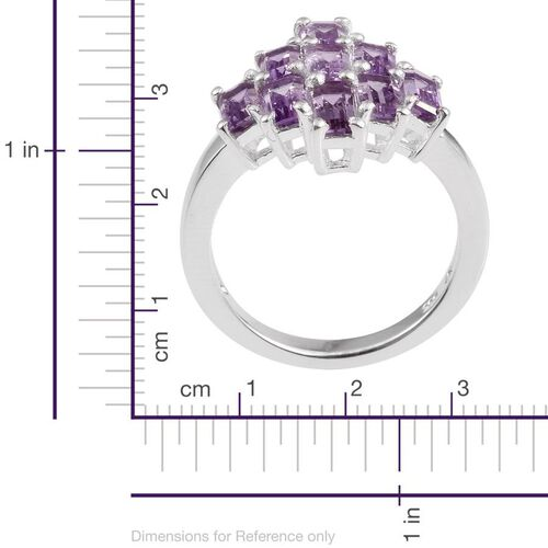 Rose De France Amethyst (Oct) Ring in Sterling Silver 2.250 Ct.