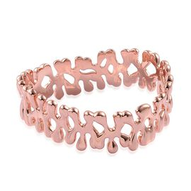 LucyQ Splat Bangle (Size 7 / Small) in Rose Gold Overlay Sterling Silver 61.59 Gms.
