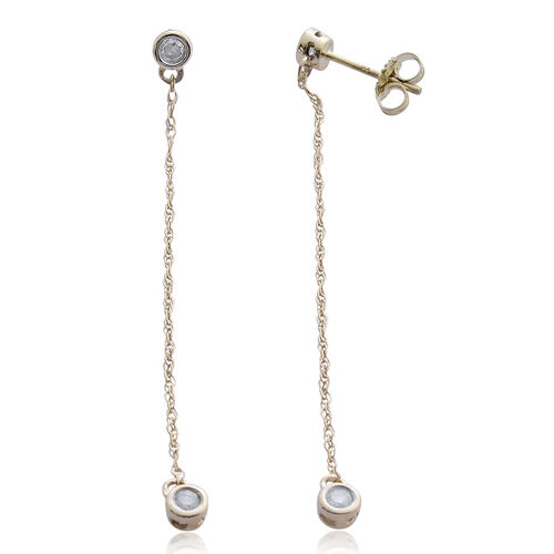 Constellation 9K Y Gold SGL Certified Diamond (Rnd) (I3/ G-H) Earrings (with Push Back) 0.250 Ct.