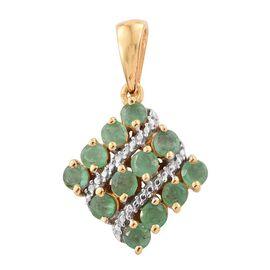 Brazilian Emerald (Rnd) Pendant in 14K Gold Overlay Sterling Silver 1.500 Ct.