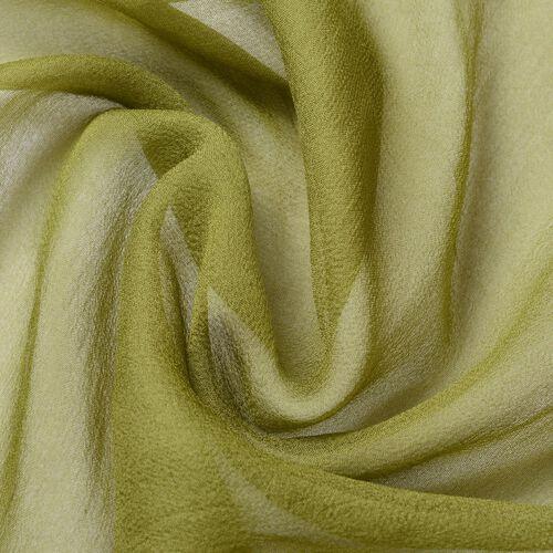 New Season-100% Mulberry Silk Green Colour Scarf (Size 170X70 Cm)