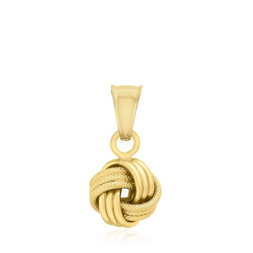 Close Out Deal 9K Yellow Gold 4 Way Knot Pendant