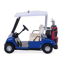 DOD - (Option 6) STRADA Blue Colour Decorative Mini Golf Cart Digital Table Clock