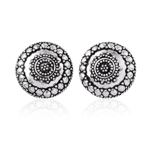 Sterling Silver Stud Earrings (with Push Back), Silver wt 6.52 Gms.
