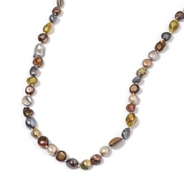 Chocolate and Multi Colour Keshi Pearl Necklace (Size 48) 465.000 Ct.