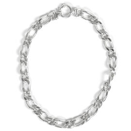 Thai Sterling Silver Figaro Necklace (Size 20), Silver wt 51.00 Gms.