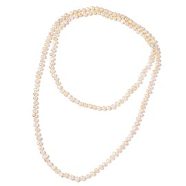 Limited Edition- Handknotted Fresh Water White Pearl Necklace  (Size 50)