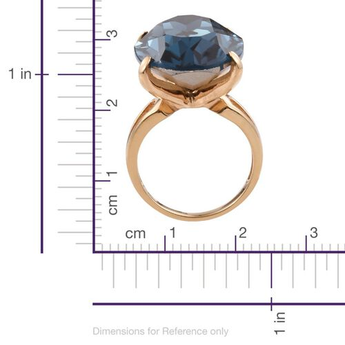Crystal from Swarovski - Montana Crystal (Ovl) Ring in ION Plated 18K YG Bond
