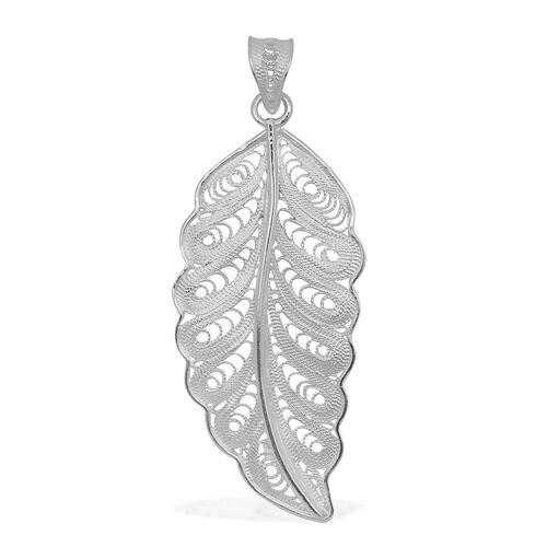 Royal Bali Collection Sterling Silver Leaf Pendant, Silver wt 3.50 Gms.