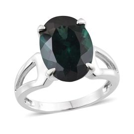 9K W Gold Ocean Blue Apatite (Ovl) Solitaire Ring 6.750 Ct.