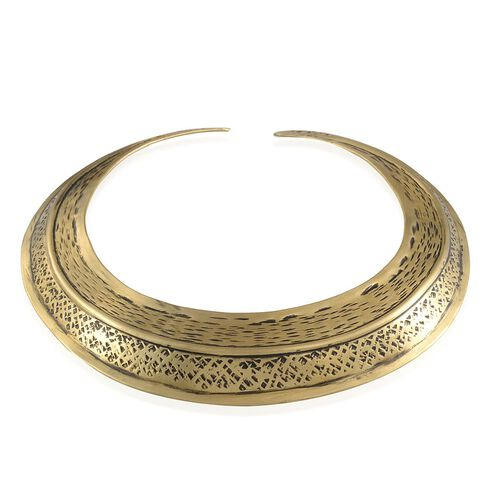 Treasures of India Embossed Choker and Cuff Bangle