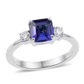 RHAPSODY 950 Platinum AAAA Tanzanite (Oct 1.70 Ct), Diamond Ring  2.000 Ct.