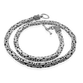 Royal Bali Collection Sterling Silver Borobudur Necklace (Size 20), Silver wt 116.80 Gms.