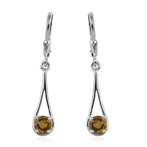 Marialite (Rnd) Lever Back Earrings in Platinum Overlay Sterling Silver 1.000 Ct.