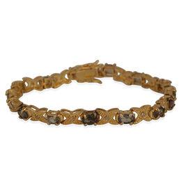 Northern Lights Mystic Topaz (Ovl), Diamond Bracelet (Size 7.75) in Gold Bond 6.600 Ct.