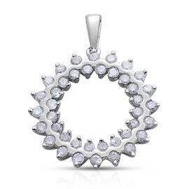 9K W Gold SGL Certified Diamond (Rnd) (I3/G-H) Pendant 1.000 Ct.