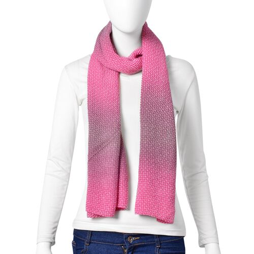 Pink and Purple Colour Scarf (Size 155X88 Cm)