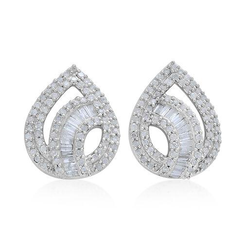 9K White Gold 1 Carat Diamond Stud Earrings SGL Certified I3 G-H