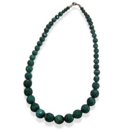 Malachite Necklace in Sterling Silver 320.00 Ct.