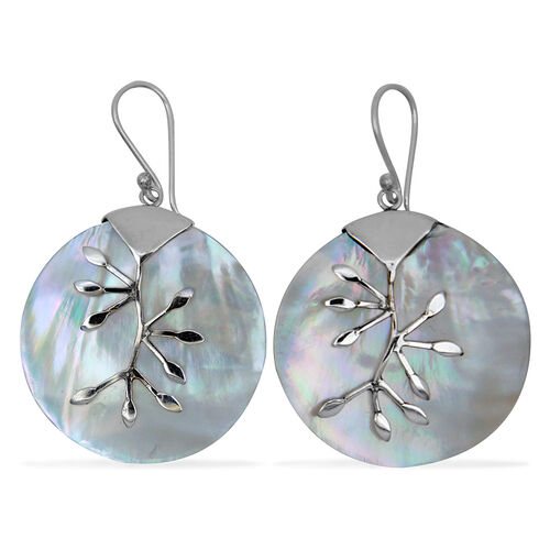 Bali Collection Mother of Pearl Earrings in Sterling Silver  22.00 Ct.