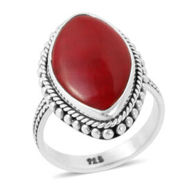 Sponge Coral (Mrq) Ring in Sterling Silver 15.800 Ct.