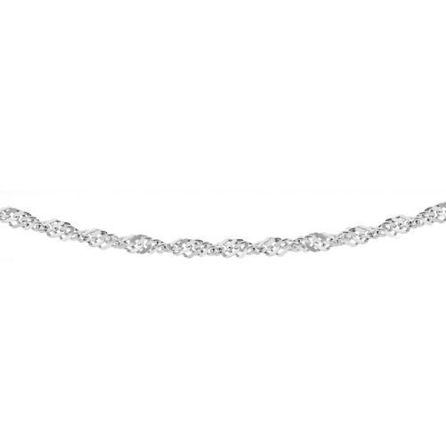 Close Out Deal Sterling Silver Singapore Twist Curb Chain (Size 30), Gold wt 3.40 Gms.