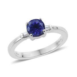 RHAPSODY 950 Platinum AAAA Tanzanite (Rnd), Diamond Ring 0.800 Ct.