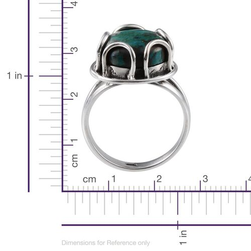 Jewels of India Table Mountain Shadowkite (Rnd) Solitaire Ring in Sterling Silver 7.400 Ct.