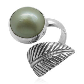 Royal Bali Collection Mabe White Pearl (Rnd) Ring in Sterling Silver 14.000 Ct.