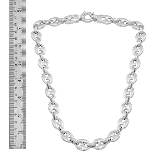 Statement Collection Sterling Silver Mariner Necklace (Size 20), Silver wt 48.30 Gms.