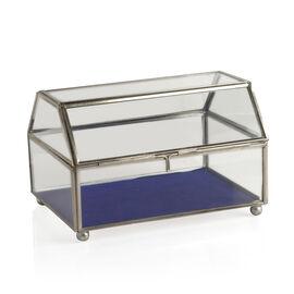 (Option 2) Vintage Glass Jewellery and Display Box (Size 20x12 Cm)