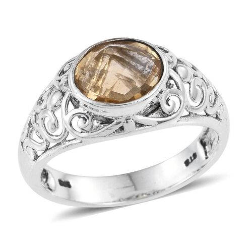 Citrine (Ovl) Solitaire Ring in Sterling Silver 2.420 Ct.