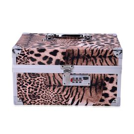 Black Tiger Pattern 2 Layer Jewellery Box with Coded Lock and Mirror inside (Size 25x14 Cm)