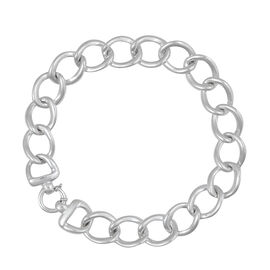 Thai Statement Collection Sterling Silver Curb Necklace (Size 18), Silver wt 63.00 Gms.
