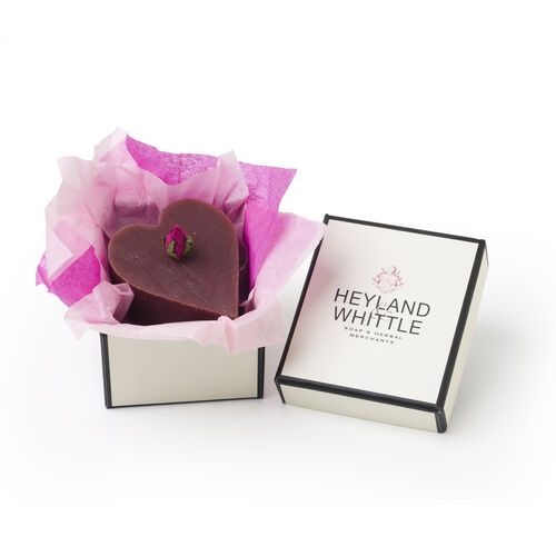 Heyland and Whittle Handmade and Natural Rose Heart Soap (40.00 Gms.)