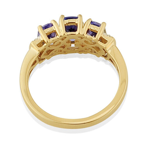 Tanzanite and Diamond 14K Y Gold Ring  1.751 Ct.