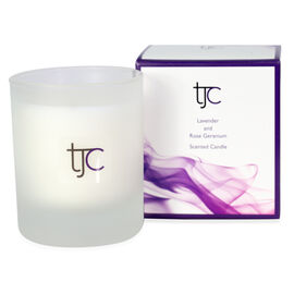 TJC Lavender and Rose Geranium Candle