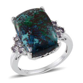 Table Mountain Shadowkite (Cush 14.50 Ct), Tanzanite Ring in Platinum Overlay Sterling Silver 14.900 Ct.