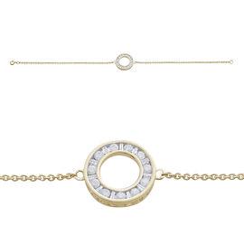 9K Y Gold SGL Certified Diamond (Rnd) (I3/G-H) Circle of Life Bracelet (Size 7.5) 0.500 Ct.